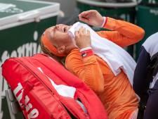 Bertens met kramp, zweet en tranen naar derde ronde: 'Het was de hel'