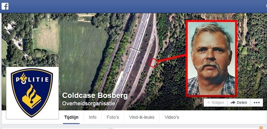 Facebook pagina coldcase Bosberg