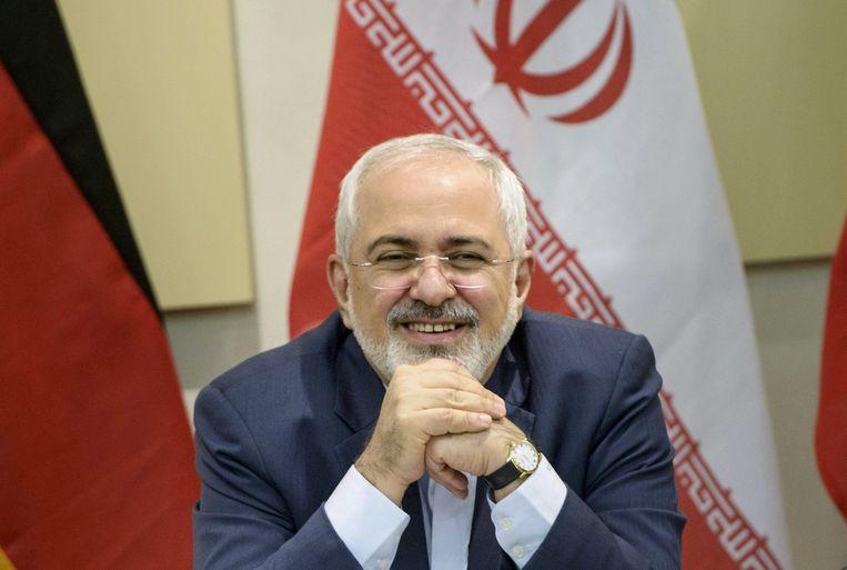 De Iraanse minister van Buitenlandse Zaken Javad Zarif. Beeld reuters