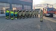 Minuut stilte bij brandweerpost Herzele
