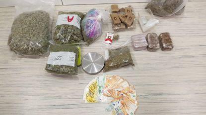 Politie vindt zes kilo drugs en cash geld bij huiszoekingen