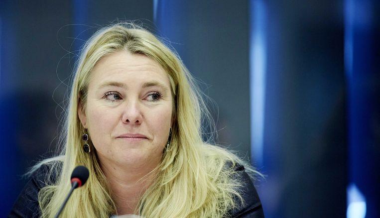 Minister Melanie Schultz van Haegen bij het debat over de kustlijn. Beeld ANP