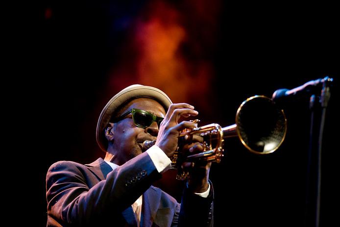 De Amerikaanse jazztrompettist Roy Hargrove was tijdens de veertigste editie ook aanwezig op het North Sea Jazz Festival.