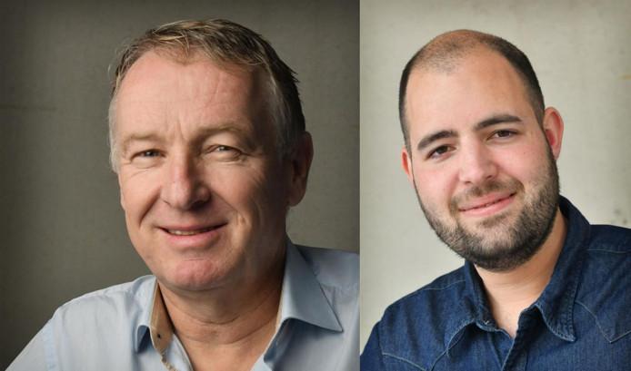 Henk van Schuppen (links) en Wilco Louwes gaan in debat.