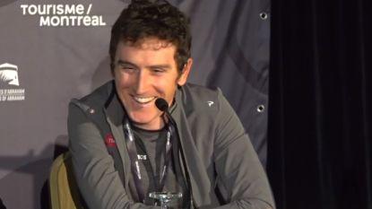 Geraint Thomas verzorgt de sfeer tijdens persconferentie in Canada
