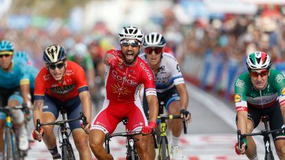 Bouhanni sprint naar bloemen in Vuelta, pechvogel Kelderman en Pinot grote verliezers