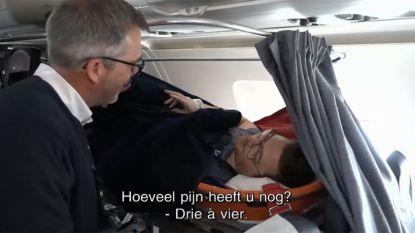 Speciale gipsvlucht repatrieert 19 gewonde landgenoten uit skigebieden