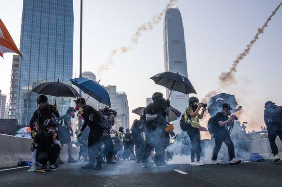De veiligheidswet leidde al meermaals tot zwaar protest in HongKong.