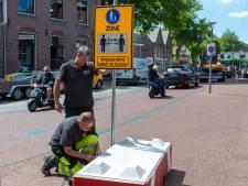 Auto en fiets blijven ook in september verboden in centrum van Epe en Vaassen