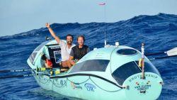 Roeiende broers steken in net geen veertig dagen de Atlantische Oceaan over