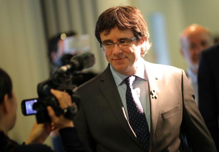 De afgezette ex-minister-president Carles Puigdemont verblijft momenteel in Berlijn in afwachting van een beslissing over zijn uitlevering.
