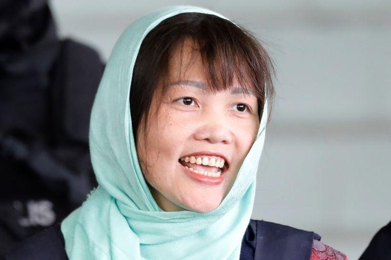 Doan Thi Huong, de Vietnamese vrouw die terechtstond voor de moord op de halfbroer van de Noord-Koreaanse leider Kim Jong-un.
