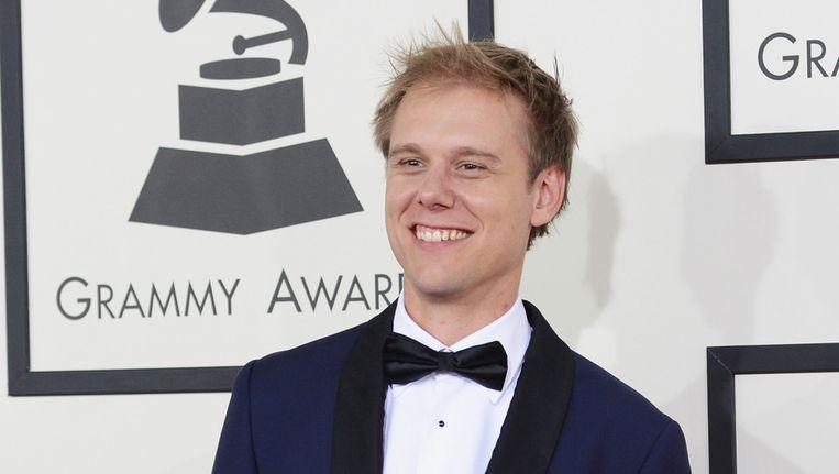 Armin van Buuren bij de uitreiking van de Grammy's. Beeld getty