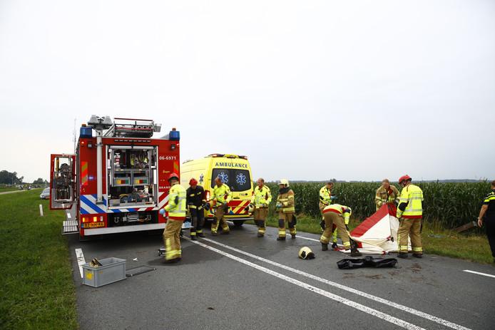 Meerdere hulpdiensten werden opgeroepen voor een zwaar ongeval in Elburg