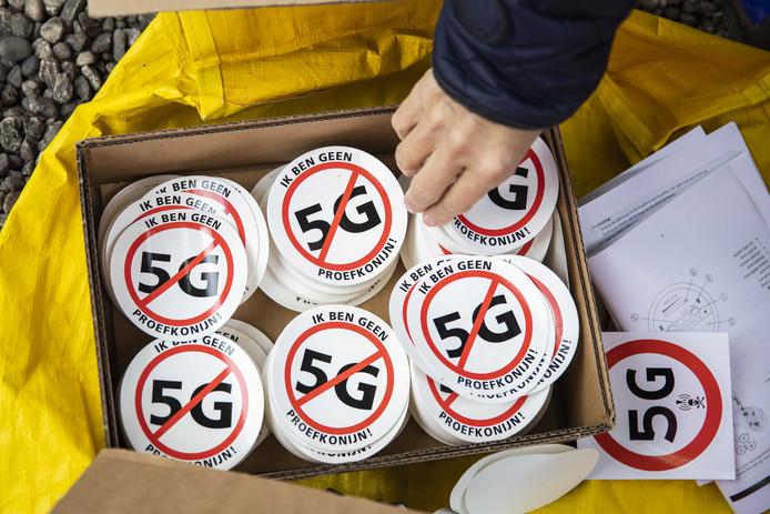 In september was er een landelijk protest tegen 5G in Den Haag.