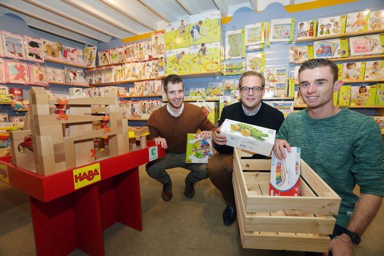 Ondernemers Sander Geysen, Tom De Backer en Philippe Loosvelt bedachten het ruilconcept Toyalot.