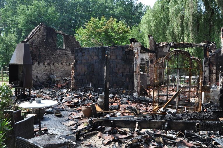 De kinderboerderij op de ochtend na de brand.