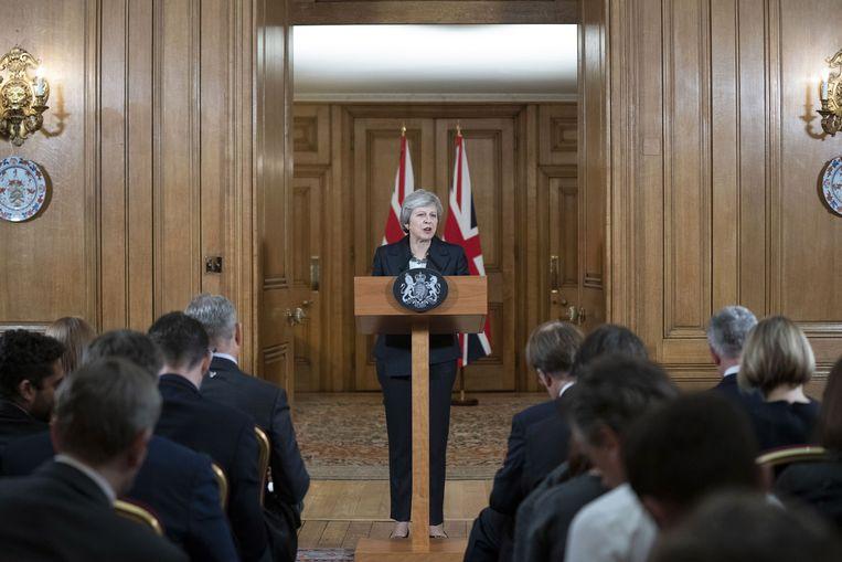De Britse minister-president Theresa May. Beeld EPA