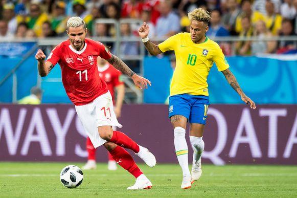 Behrami hield Neymar uit de wedstrijd.