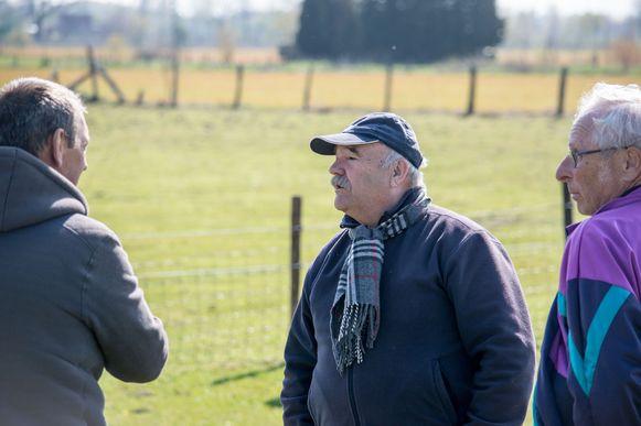 Marc Hillen (midden) overweegt om al zijn schapen weg te doen.