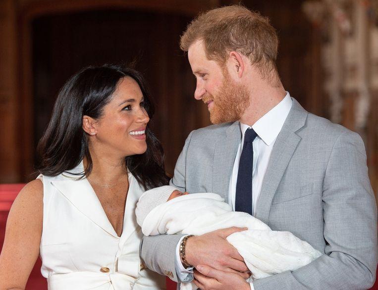 Meghan Markle, prins Harry en hun zoontje Archie