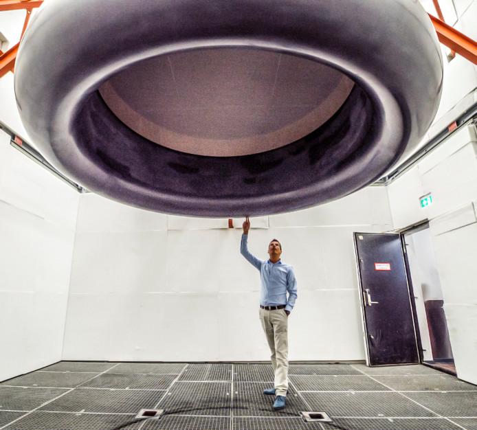 De 3D-geprinte windtunnel.