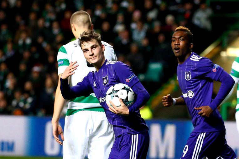 Pieter Gerkens in het CL-duel tegen Celtic, de enige match waarin Anderlecht punten sprokkelde.
