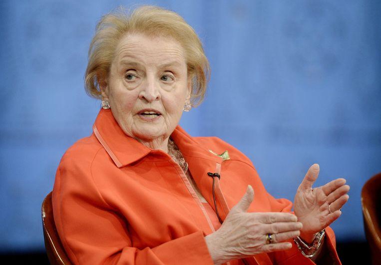 We kennen Madeleine Albright vooral als de minister van buitenlandse zaken onder president Bill Clinton, twintig jaar geleden inmiddels. Beeld epa