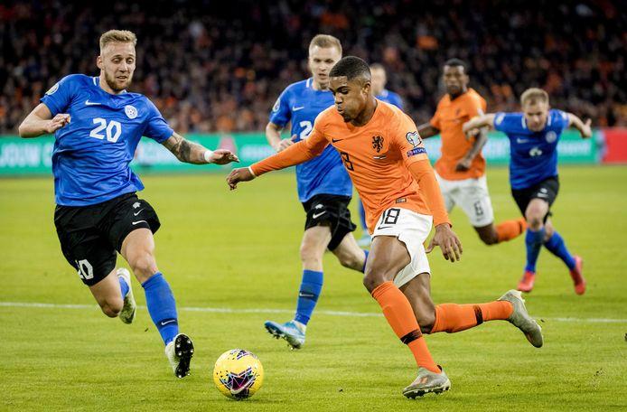 Boadu vlak voor zijn eerste doelpunt voor Oranje.