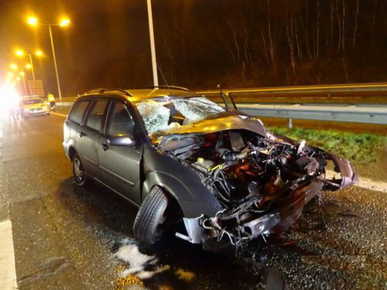 Het ongeval gebeurde in de richting van Nederland, net ter hoogte van Park Midden Limburg.