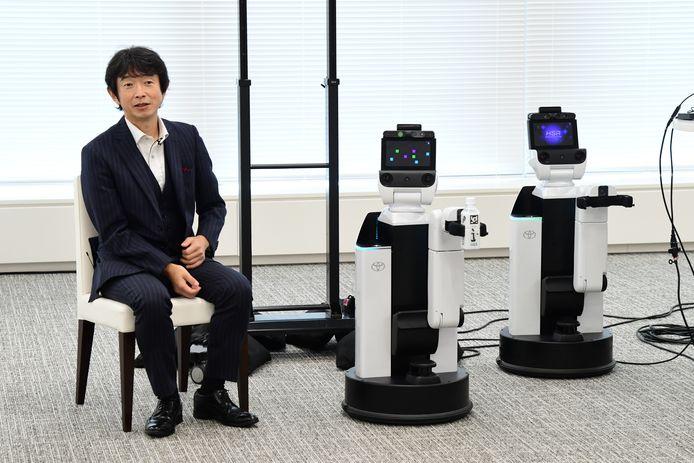 Naast auto's werkt Toyota ook aan hulprobots, zoals deze Human Support Robot