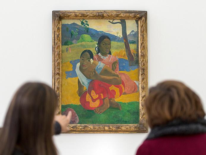 """Paul Gauguin: """"Quand te maries-tu ?"""" (en tahitien, """"Nafea faa ipoipo ?""""), une toile réalisée en 1892 lors de son séjour en Polynésie française."""