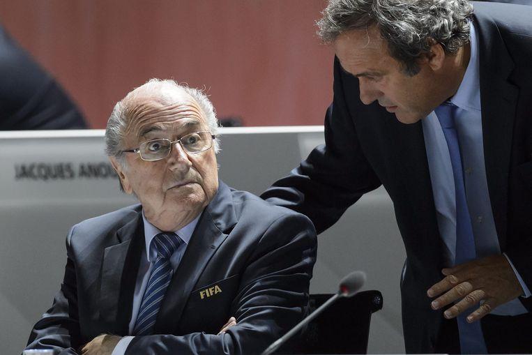 Blatter (l) en Platini.