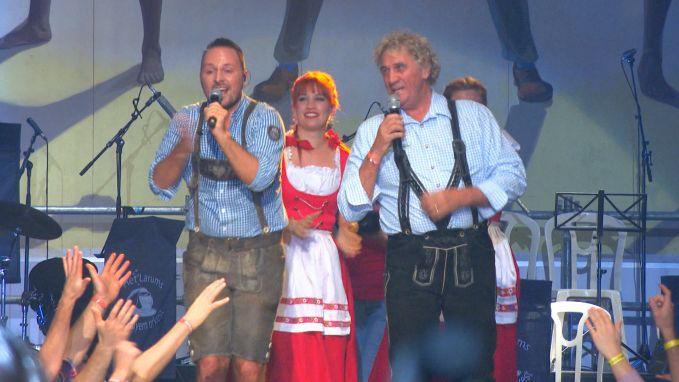 Ambiance met Jean-Marie Pfaff op de Oktoberfeesten in Wieze