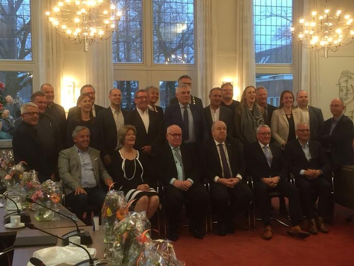 Laatste 'staatsiefoto' van de Oisterwijkse gemeenteraad in de periode 2014-2018.