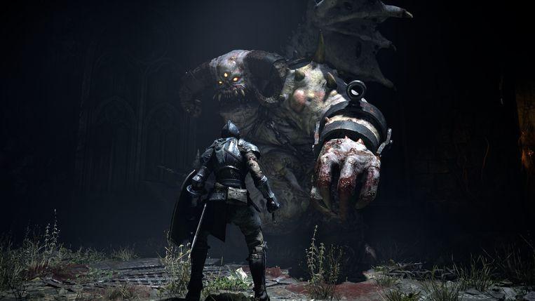 Beeld uit de klassieker Demon's Souls dat voor de PlayStation 5 in een nieuw jasje wordt gestoken. Beeld FromSoftware