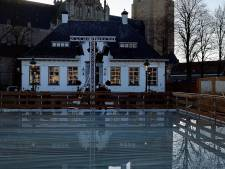 Water schaatsbaan verandert langzaam in ijs in Wouw: komende weken volop activiteiten