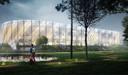 Het ontwerp voor het nieuwe stadion van Club Brugge.