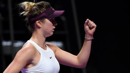 Svitolina zeker van halve finales Masters - Pliskova profiteert van opgave Andreescu
