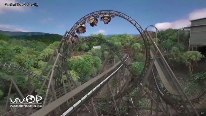 """La future attraction de Plopsaland, temporairement baptisée """"Robospinner"""", devrait ressembler à ceci"""