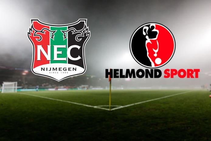NEC speelt tegen Helmond Sport in Nijmegen.
