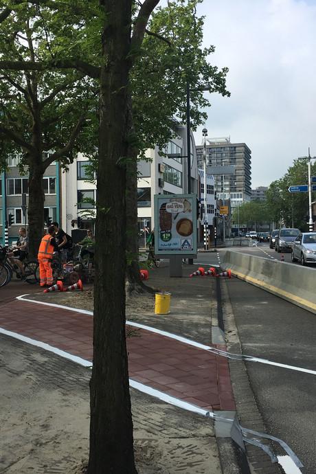 Verkeer zoekt zijn (illegale) weg na herinrichting Vestdijk Eindhoven