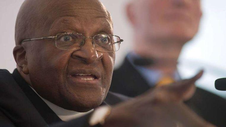 De Zuid-Afrikaanse aartbisschop Desmond Tutu Beeld afp