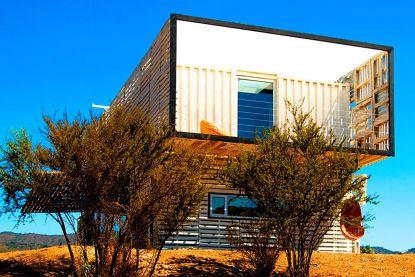 Waanzinnig wonen: drie zeecontainers vormen de basis van dit huis