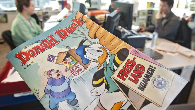 De 'duckse taal' wordt op de redactie in Hoofddorp bedacht. Beeld anp