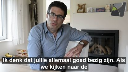 """Viroloog Steven Van Gucht spreekt inwoners van zijn gemeente toe in videoboodschap: """"Jullie zijn goed bezig, Denderleeuw. Volhouden nu"""""""