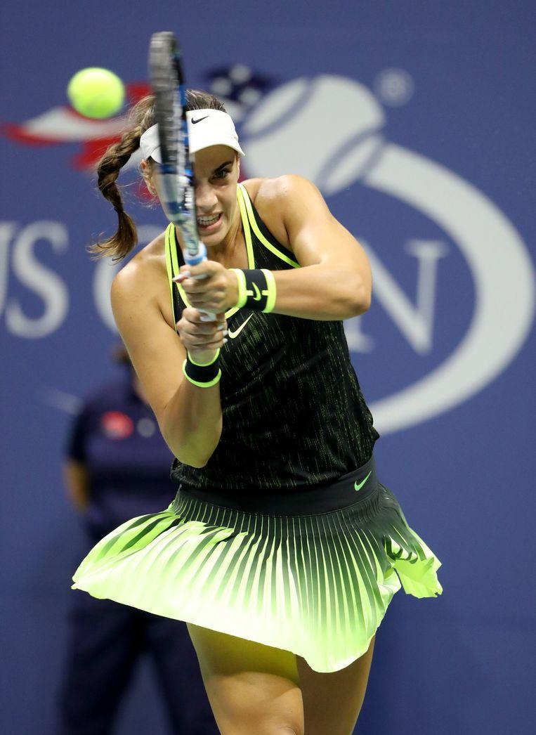 Ana Konjuh staat op haar eerste kwartfinale in een Grand Slam