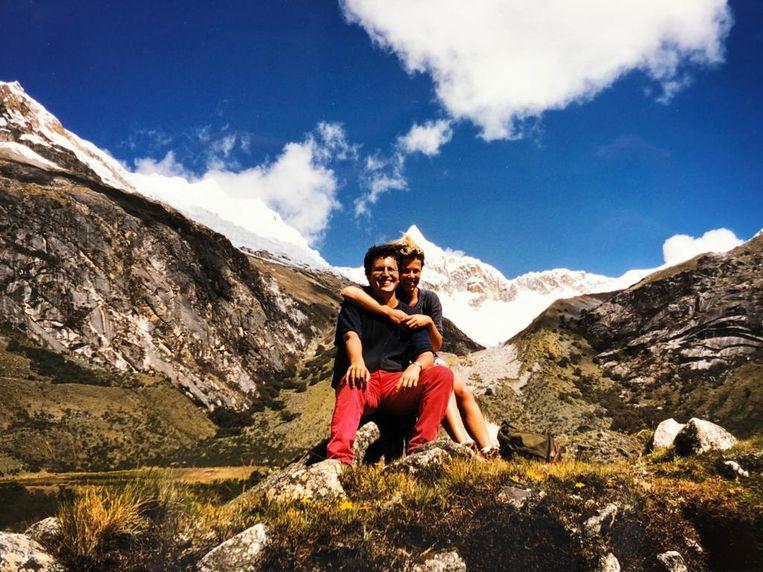 Boukje Bügel-Gabreëls met haar man Marnix Bügel op huwelijksreis. Beeld Privécollectie