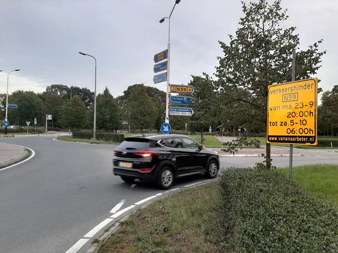 De N59 bij Zierikzee wordt in september en oktober tijdelijk afgesloten.