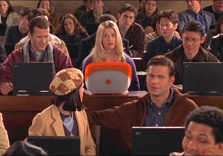 Elle Woods  (Reese Witherspoon) in Legally Blonde (2001). Beeld